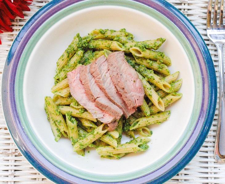 Pasta with Cilantro Sauce 2